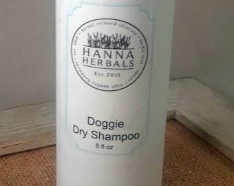 Doggie dry Shampoo - 8 ounce - Dry Dog Shampoo - Itch Relief Shampoo - Oil Absorbing Dry Shampoo - Water Free Shampoo - Lavender Dry Shampoo
