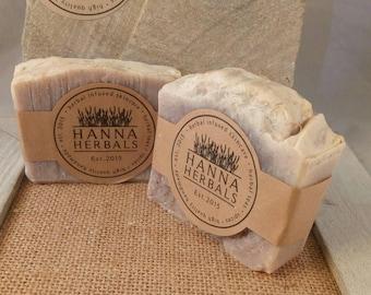 Lavender loofah soap - lavender scrub soap - lavender - lavender loofah - loofah soap - loofah lavender soap -  soap - exfoliating soap