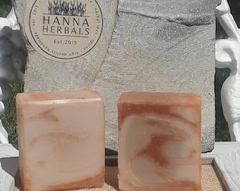 Amber Sandalwood Soap - all natural soap - handmade soap - soap - sandalwood soap - homemade soap - moisturizing soap - bath and beauty