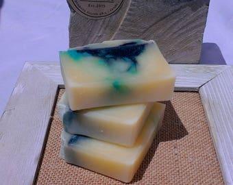 Indigo Gardens Soap - Indigo - boho - bohemian - handmade - giftsforher - blue - handmade soap - self care - Hanna Herbals - blue soap