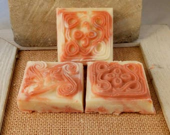 Fruity Frusion with Mica swirls - 2 ounce bars - wedding favors - bridal shower soaps - gift for her soaps - gest soaps