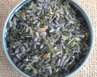 Lavender Delight  Herbal Tea - dried herbal tea - dried herbs - caffeine free - dried lavender - organic herbal teas - tea - digestive tea