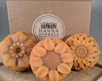 Spring Soap- Patchouli Soap - Black Pepper soap - Lavender Soap - Flower Soap - Orange Soap -- boho soap - handmade soap - vegan soap