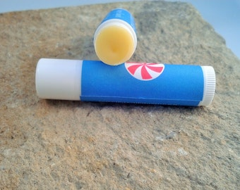 Vanilla Peppermint Lip Balm - Set of 5 - organic lip balm - herbal lip balm - chapped lip relief -  organic skincare - great skin