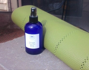 Energize yoga mat cleaner - Yoga Mat Cleanser - Yoga Mat Spritzer - Anitbacterial Spray - Energizing Spray