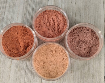 Blush 4 pack - Matte Blush - mineral makeup - blush - makeup - vegan makeup - face powder - blush color - natural cosmetics - blush makeup