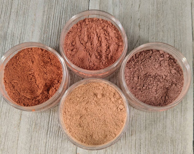Blush 4 pack - Matte Blush - mineral makeup - blush - makeup - vegan makeup - face powder - blush color - natural cosmetics - blush makeup