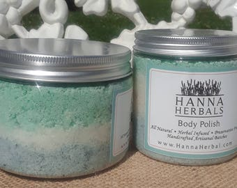 Island Breeze Body Polish - Tropical Sugar Scrub - blue body polish - lily body polish - jasmine body polish - Tropical Body Polish