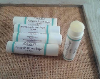 Pumpkin Brown Sugar Lip Balm - Set of 5 - All natural lip balm - Hanna Herbals - Pumpkin Lip Balm