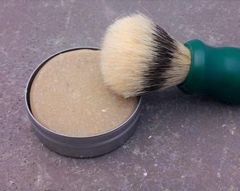 Sandalwood Shaving Soap - Men's shaving soap - travel shaving soap - cold processed soap - old fashioned soap