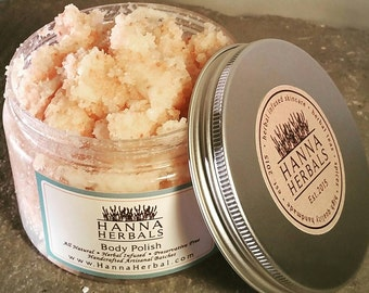 Vanilla Body Polish - pink salt scrub - sugar scrub - spa scrub - exfoliating scrub - aromatherapy - salt scrub - girlfriend gift