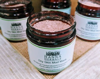 Dry Skin Mud Mask -acne relief mask - mature skin mask - combination skin - detoxifying mask - healthy skin mask - spa mud mask
