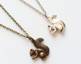 CHIPMUNK Necklace Chipmunk Jewelry Chipmunk Pendant Squirrel Necklace Squirrel Jewelry Squirrel Pendant Squirrel Gift Chipmunk Gift Animal