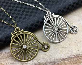 PENNY FARTHING Necklace Penny Farthing Jewelry Penny Farthing Gift Penny Farthing Charm Penny Farthing Pendant Bike Jewelry Bike Necklace