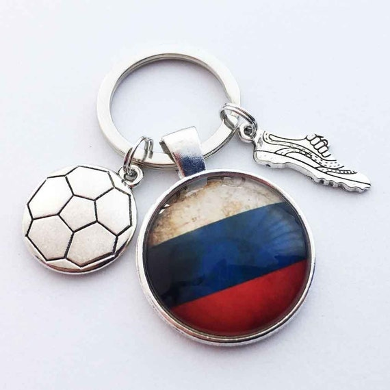 Wereld Cup Rusland Sleutelhanger World Cup Gift Voetbal Etsy