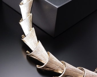 Vintage 1950s Silver Link Bracelet and Necklace