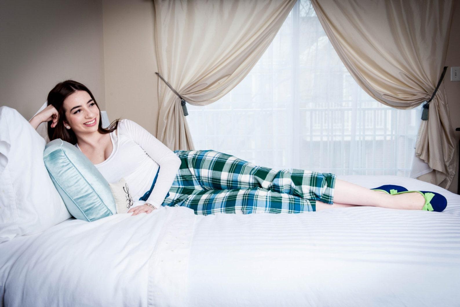 women's slippers- blue ballet flat- merino wool felt- handmade in italy- grosgrain ribbon & bow- size eu 39