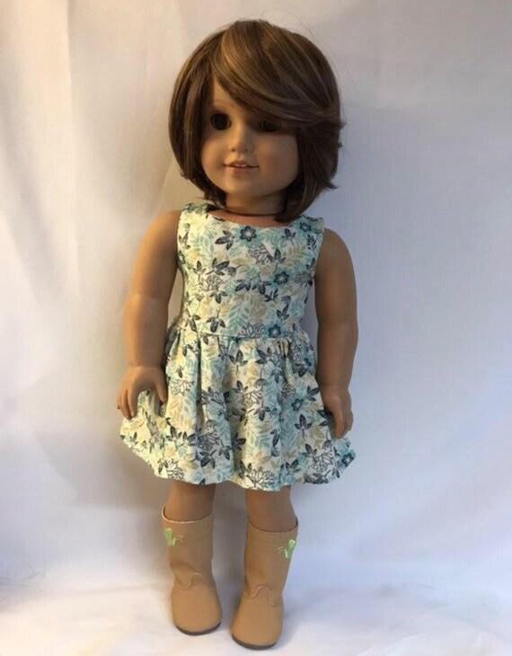 d61972c12ba Creme-Kleid mit Tan Marine und Mint Grün Blumen