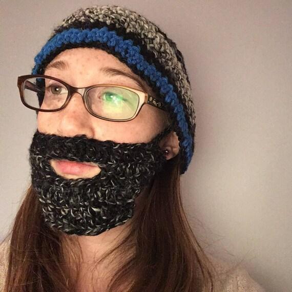 Häkeln Sie Bart wärmer Hut separat erhältlich | Etsy