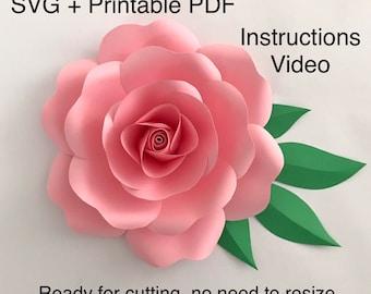 Large Paper Rose Etsy