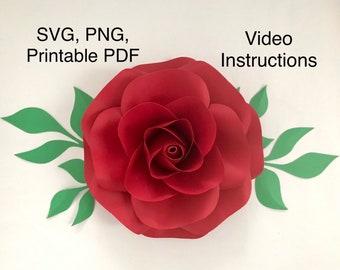 giant petal template etsy