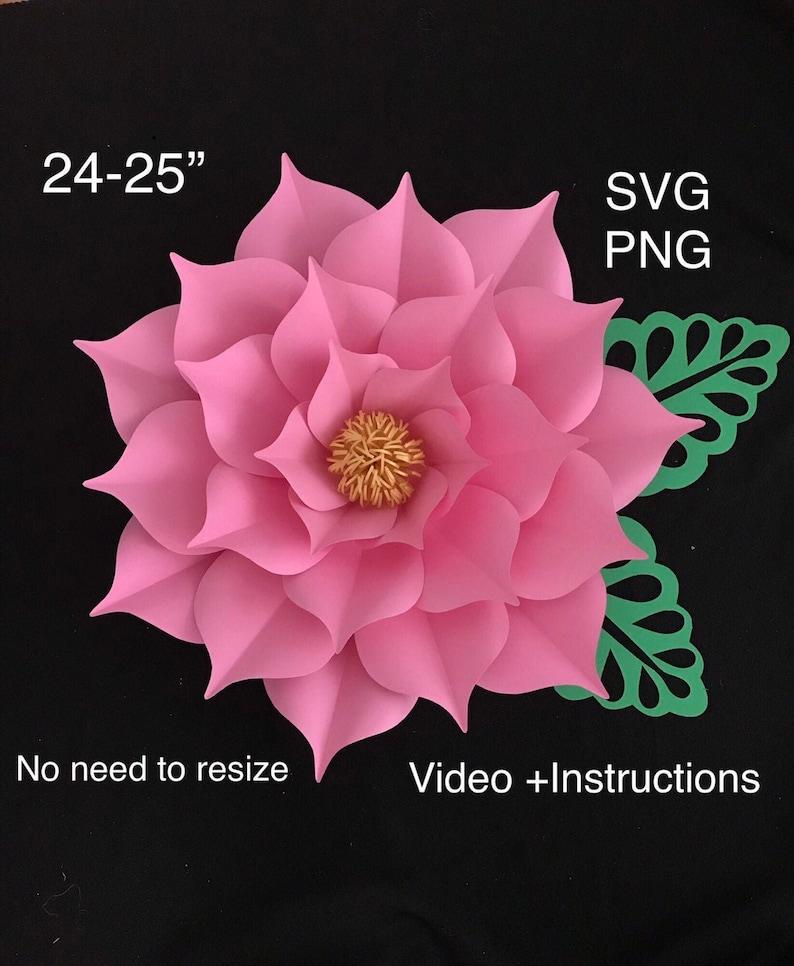 Flower Template SVG PNG for Giant Paper Flowers Making, Paper Flowers Svg,  3D Flower Svg, Svg Flowers, Paper Flower Cricut, Flor De Papel