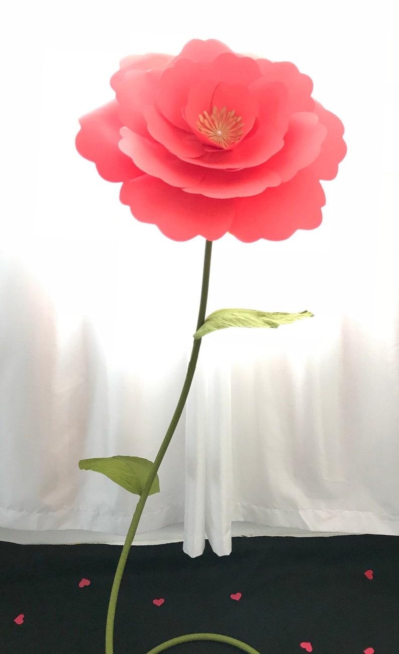 Giant Flower Stem Tutorial Diy Large Flower Stem Giant Paper Flower Stand Stem For Giant Paper Flower Free Standing Paper Flowers Stem