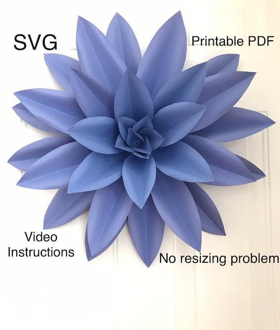 Giant Paper Flower Template Flower Petal Template Flower Etsy