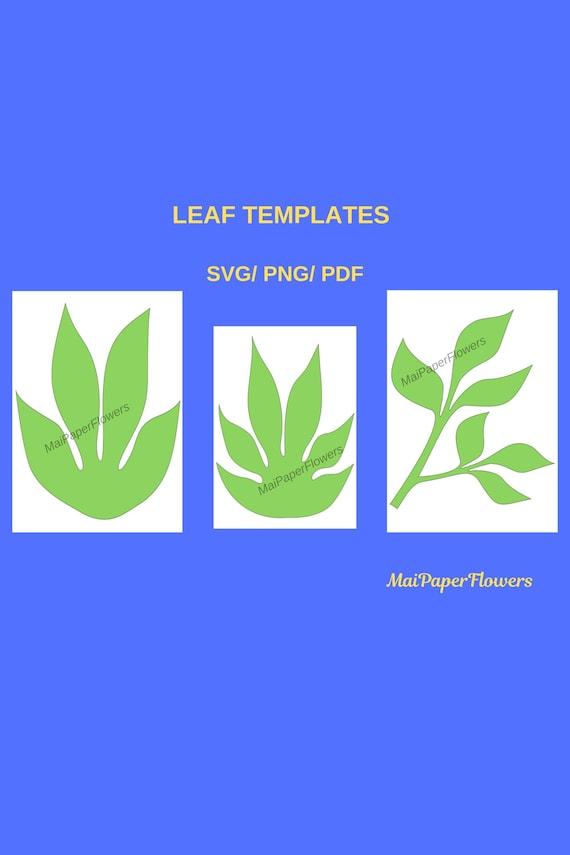 Paper Flower Leaf Template Flower Leaf Template Paper Flower Leaf Flower Leaf Svg Flower Leaves Svg Leaf Printable Leaf For Cricut