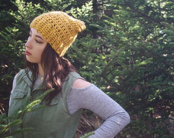 The Ledge Slouch // Crochet Slouchy Beanie Hat Womens Accessories