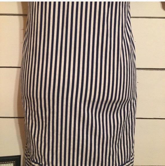 Vintage Stripped 70s Mini Dress - image 4
