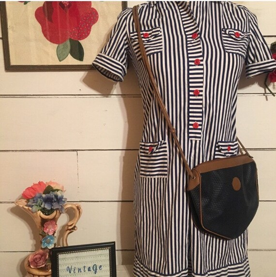 Vintage Stripped 70s Mini Dress - image 2