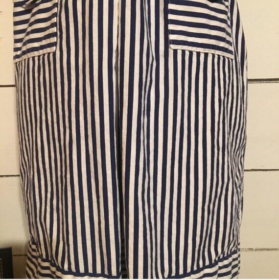 Vintage Stripped 70s Mini Dress - image 7