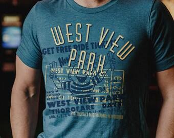 Louis Short-Sleeve Unisex T-Shirt Retro Tees Holiday Hill Amusement Park St
