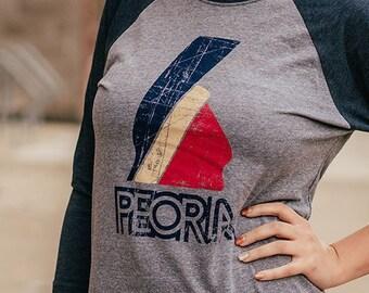 2e15c37b Peoria Indian Logo T-Shirt Peoria Bygone Brand retro tees | Etsy