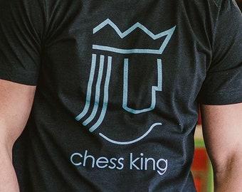 498ecac4d Chess King Unisex T-Shirt - Bygone Brand retro tees