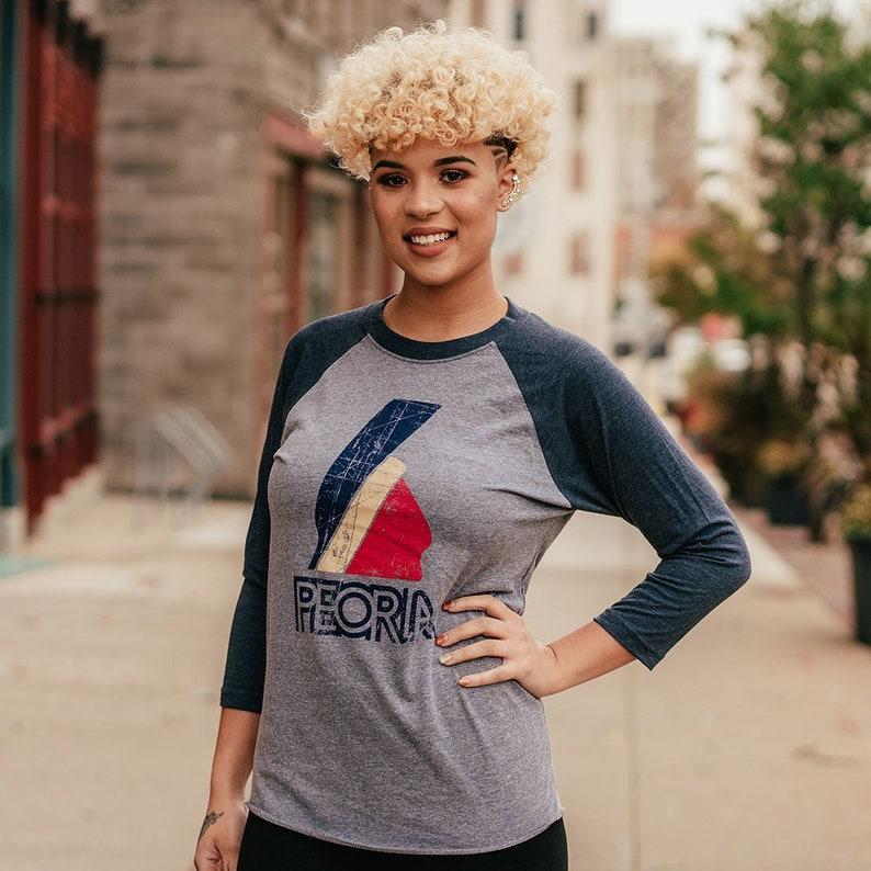 7edd086a Peoria Baseball T-Shirt Bygone Brand retro tees | Etsy
