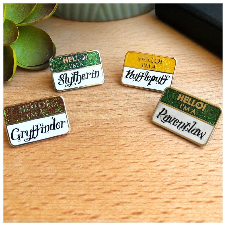 Colorful Hello I/'m A mini enamel pins Magical School Mini Name Badges
