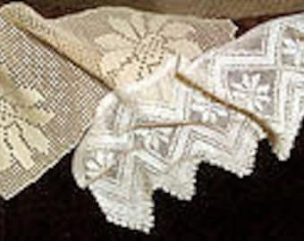 Two Antique/ Vintage Hand-Crochet Chair Back Covers