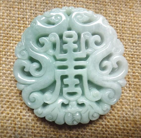 Unique perfect natural green jade dragon pendant mascot DSC04855
