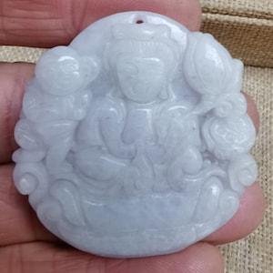 Natural   Jade Kwan Yin  Guanyin Statue Carving Sculpture  Songzi Guanyin sv123