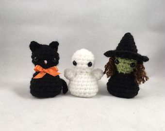 Halloween Minis - Set of 3 Crocheted Decorations
