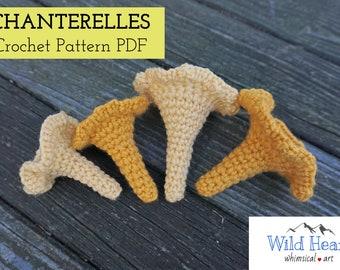 Chanterelle Mushrooms Crochet Pattern - PDF