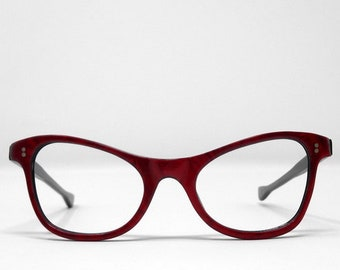 e16a361e658d9b fabulous vintage sunglasses lunettes eyeglasses 1950 cat eye carved frame  france rare