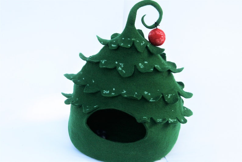 Christmas tree Felt wool cat cave Home decor Pet house