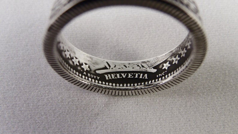 Ring man silver ring with a coin 2 Swiss FRANCS