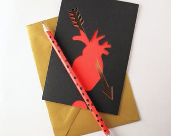 VALENTINE'S CARD /// PAPERCUT /// Made in France