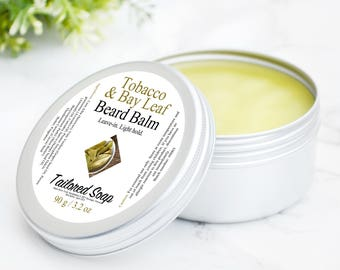 Tobacco Beard Balm - Bay Leaf - Mens Grooming - Beard Products - Beard Care - Hair Care For Men - Gifts Under 25 Dollar - Light Hold Styling