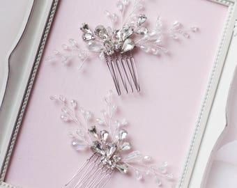 Small Hair Comb Set of Combs Pins Bridesmaid Hair Pins Bridal Hair Clips Decorative Clip Mother of the Bride Wedding Hair Clips Pins ONE PIN