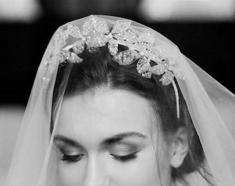 Bridal Crown Wedding Crown Bridal Tiara Flower Crown Bridal Headpiece Floral Crown Bridal Accessory Crown Crystal Crown Royal Crown Bridal